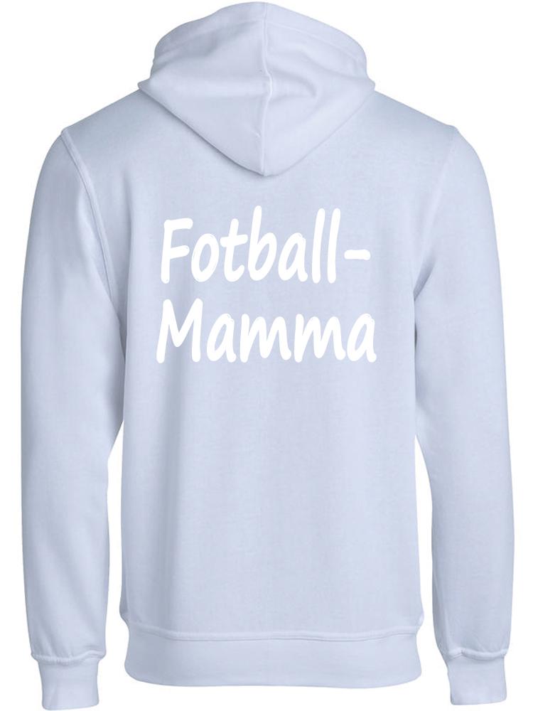 Fotball-mamma hettejakke, Hvit