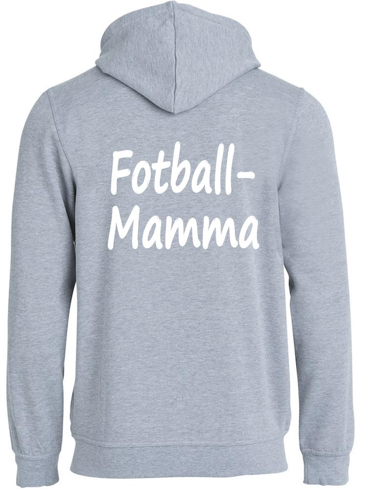 Fotball-mamma hettejakke, Lys grå