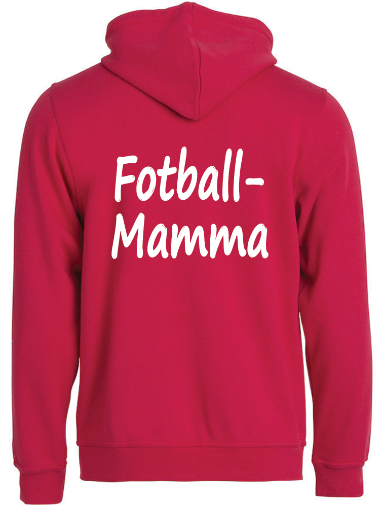 Fotball-mamma hettejakke, Rød