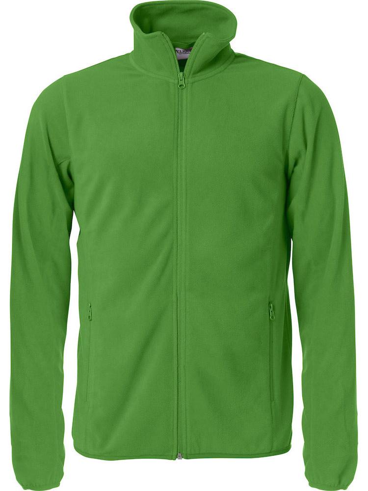 Basic Micro Fleece Jacket Eplegroenn