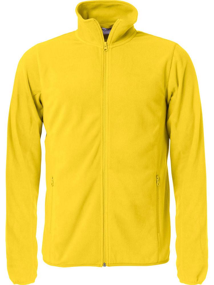 Basic Micro Fleece Jacket, Gul