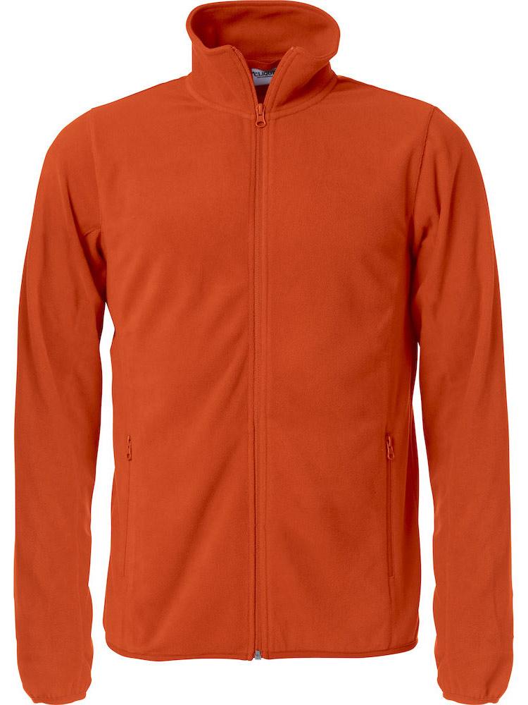 Basic Micro Fleece Jacket, Orange