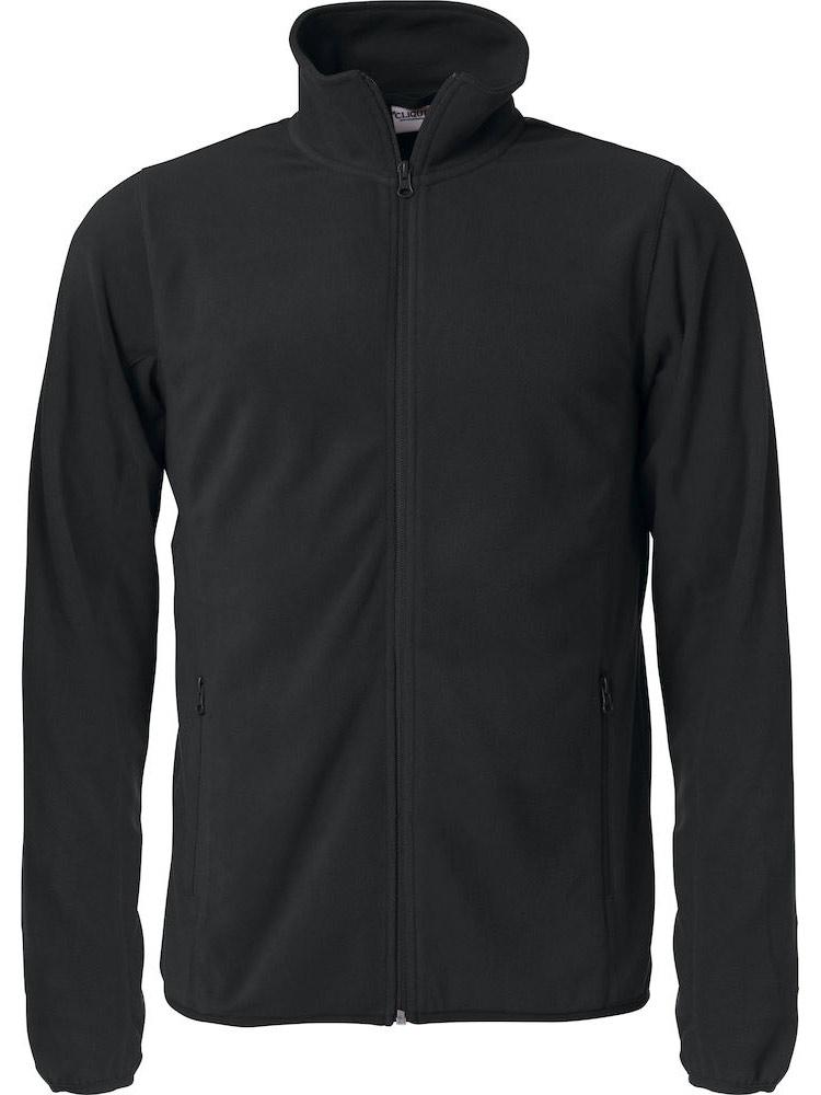 Basic Micro Fleece Jacket, Svart