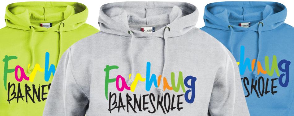 d9b53d8b Skolegensere til Farhaug barneskole: Clique Basic Hoody hettegenser, i  spreke farger. Barnestørrelsene leveres uten snor i hetten, for økt  sikkerhet.