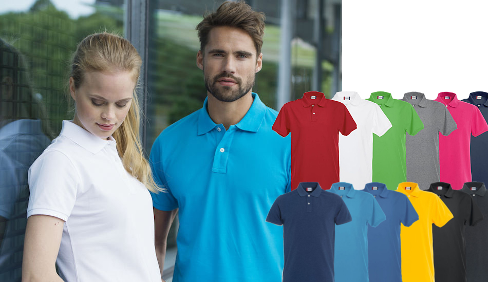 Pique-skjorter Med Logo Stretch Premium Polo