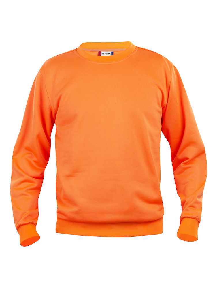 Collegegenser Clique Basic Roundneck, visibility orange