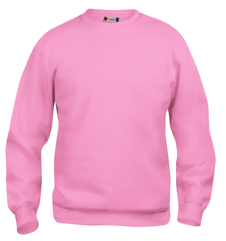 Collegegenser Clique Basic Roundneck, 250 klar rosa