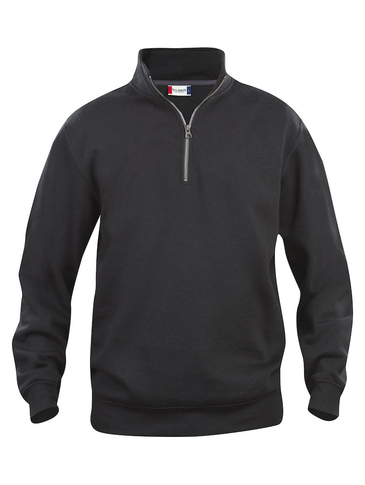 Genser Clique Basic Half Zip, svart