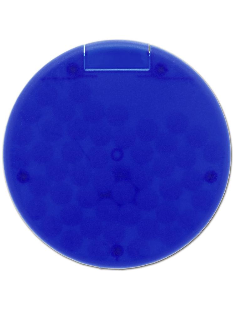 Mintdrops med logo, rund eske, Blå