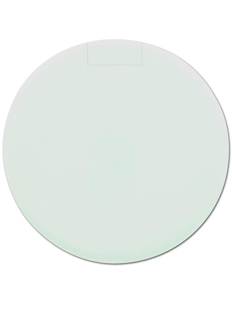Mintdrops med logo, rund eske, Hvit
