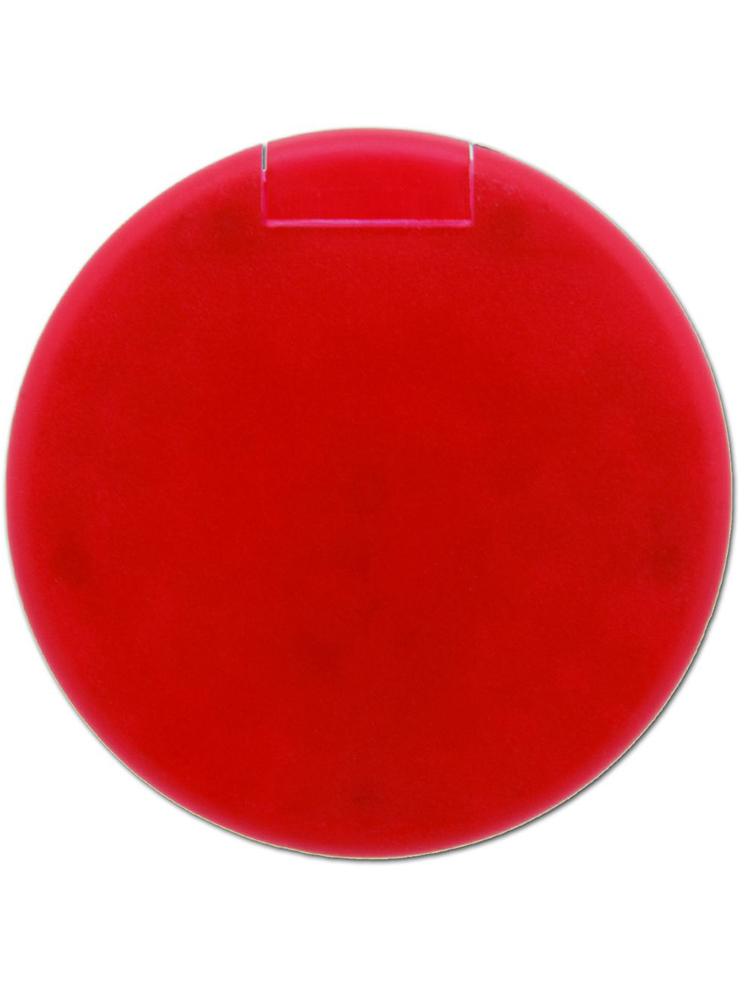 Mintdrops med logo, rund eske, Rød