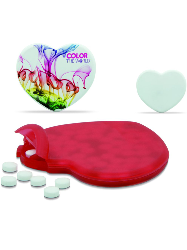 Pastiller med logo Mint hjerte, samlebilde