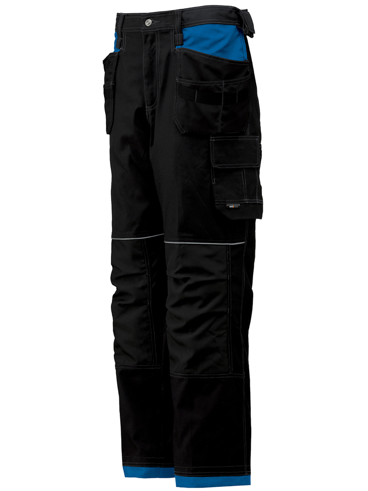 Helly Hansen Chelsea Construction Pant, Black & Racer Blue