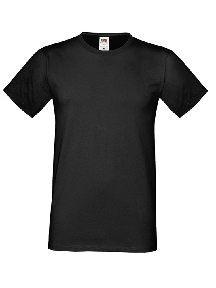 Fruit Of The Loom Sofspun T-skjorte, Black