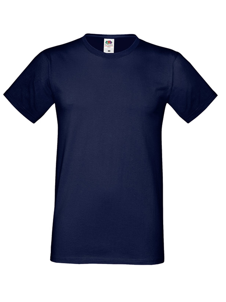 Fruit Of The Loom Sofspun T-skjorte, Deep navy