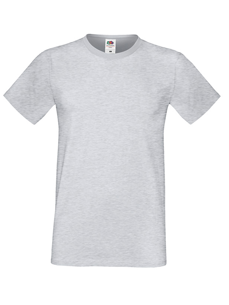 Fruit Of The Loom Sofspun T-skjorte, Heather Grey