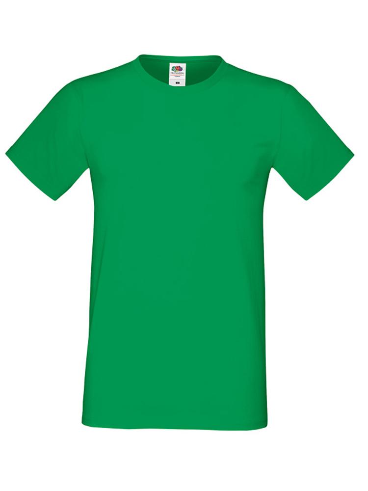 Fruit Of The Loom Sofspun T-skjorte, Kelly green