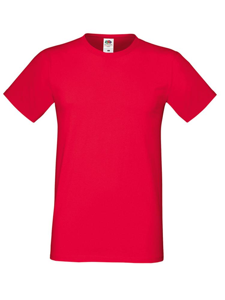 Fruit Of The Loom Sofspun T-skjorte, Red