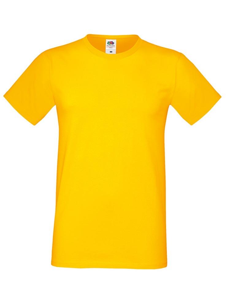 Fruit Of The Loom Sofspun T-skjorte, Sunflower