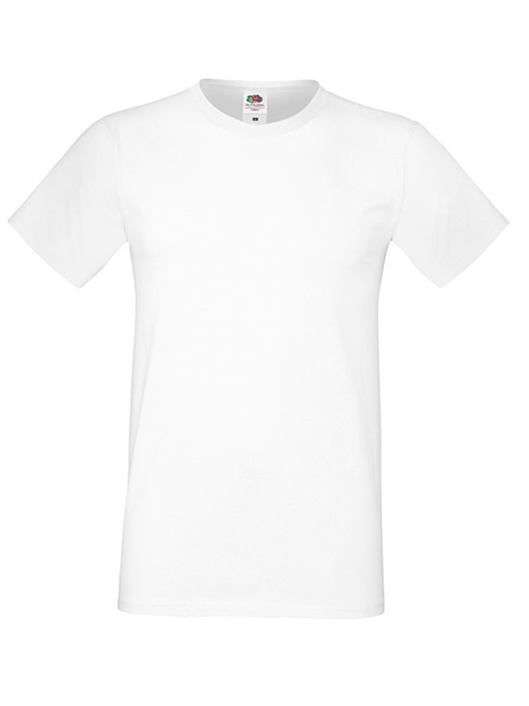 Fruit Of The Loom Sofspun T-skjorte, White