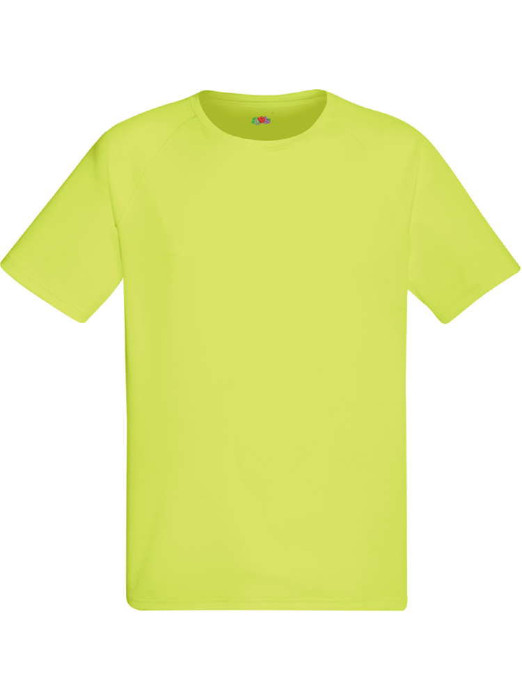 Fruit of the Loom Performance T, Bright yellow