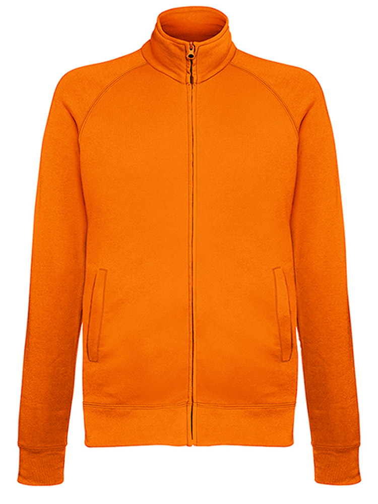 Fruit of the Loom Light Weight Sweat Jacket, Orange