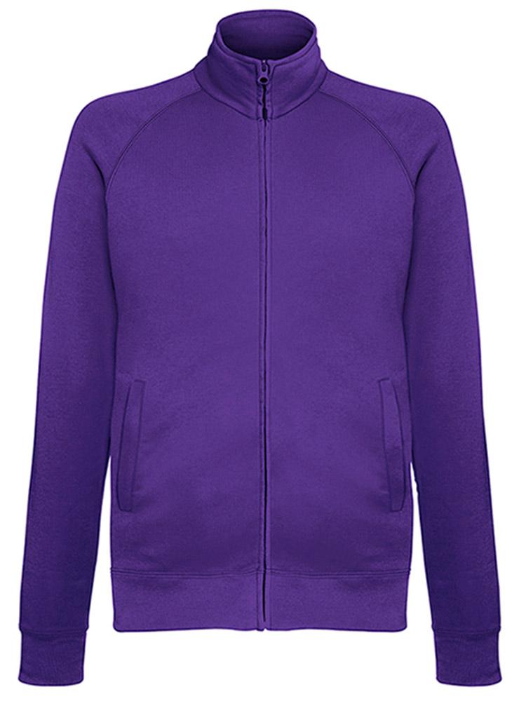 Fruit of the Loom Light Weight Sweat Jacket, Purple