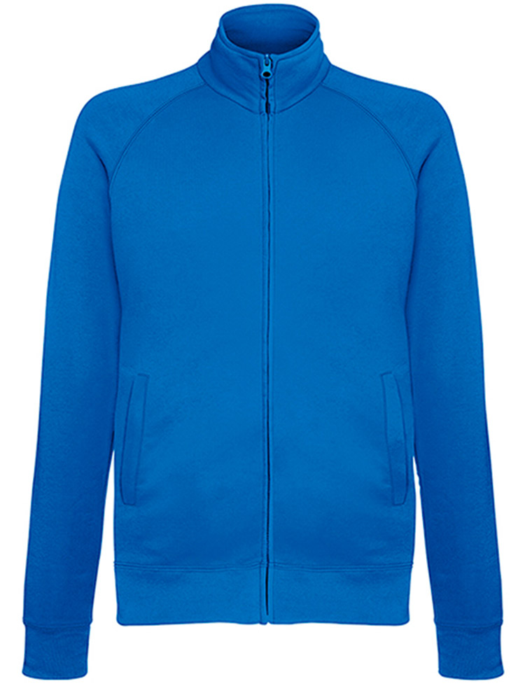 Fruit of the Loom Light Weight Sweat Jacket, Royal Blue