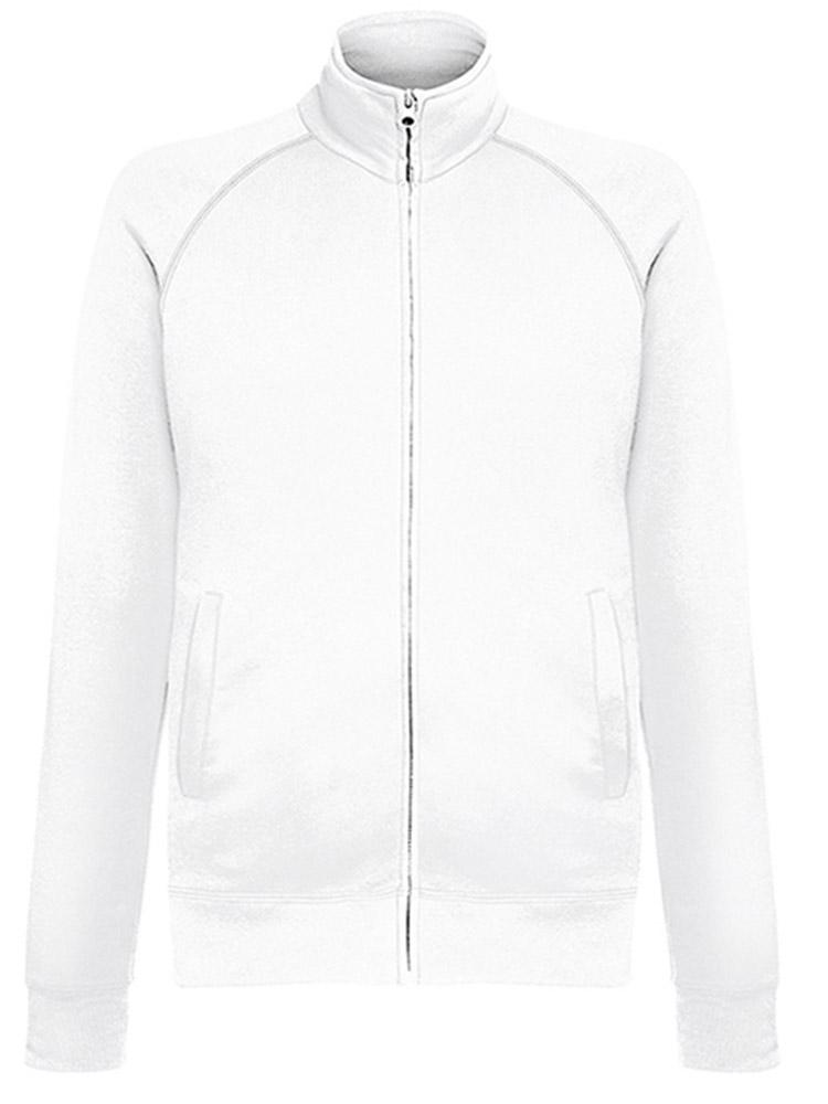 Fruit of the Loom Lightweight Sweat Jacket, White