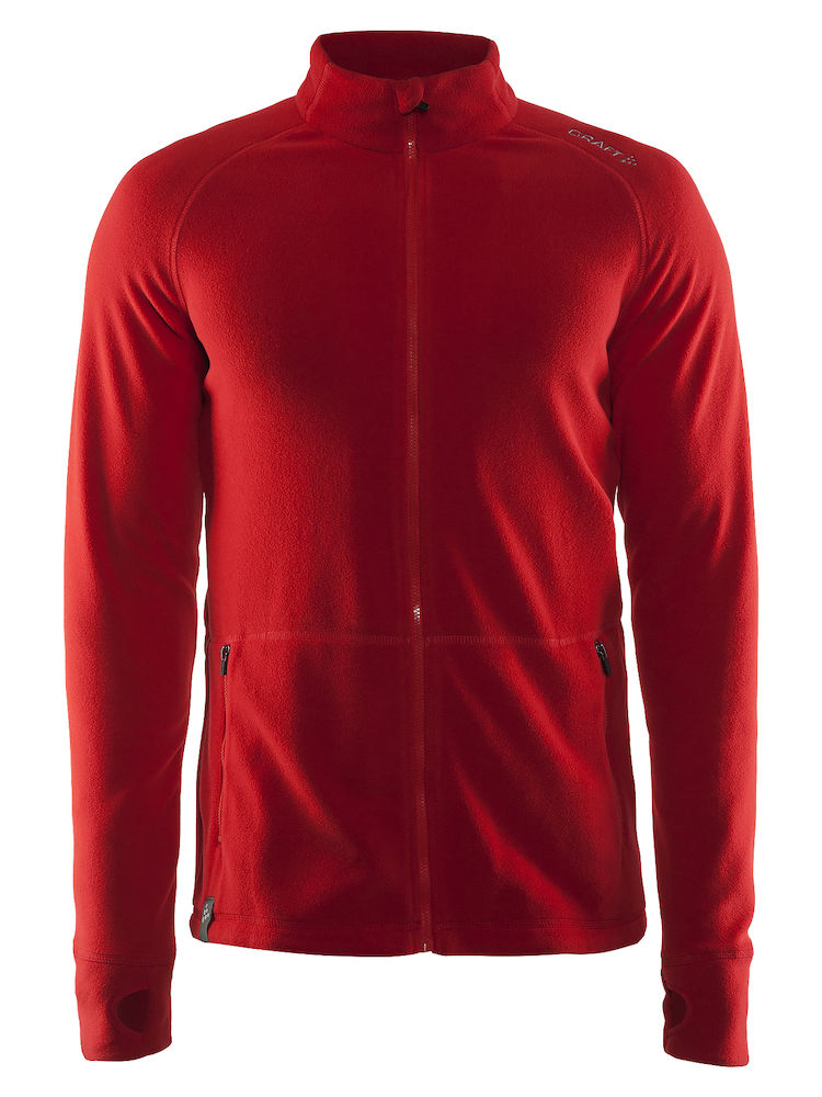 Craft Full Zip Micro Fleece Jacket, Bright red