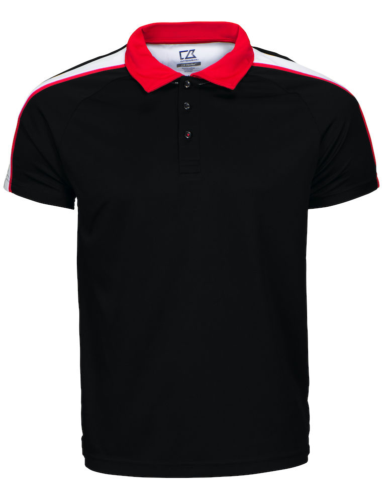 Cutter & Buck Breakers Polo Men, Sort