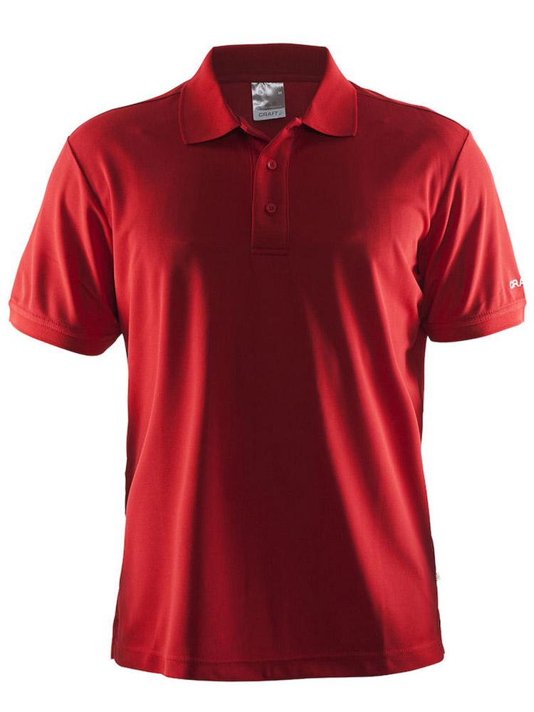 Craft Polo Shirt Pique Classic, Bright Red