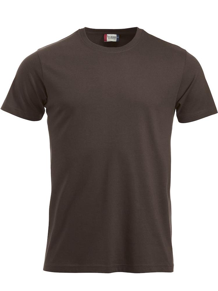 T-skjorte Clique New Classic-T, Mørk mokka