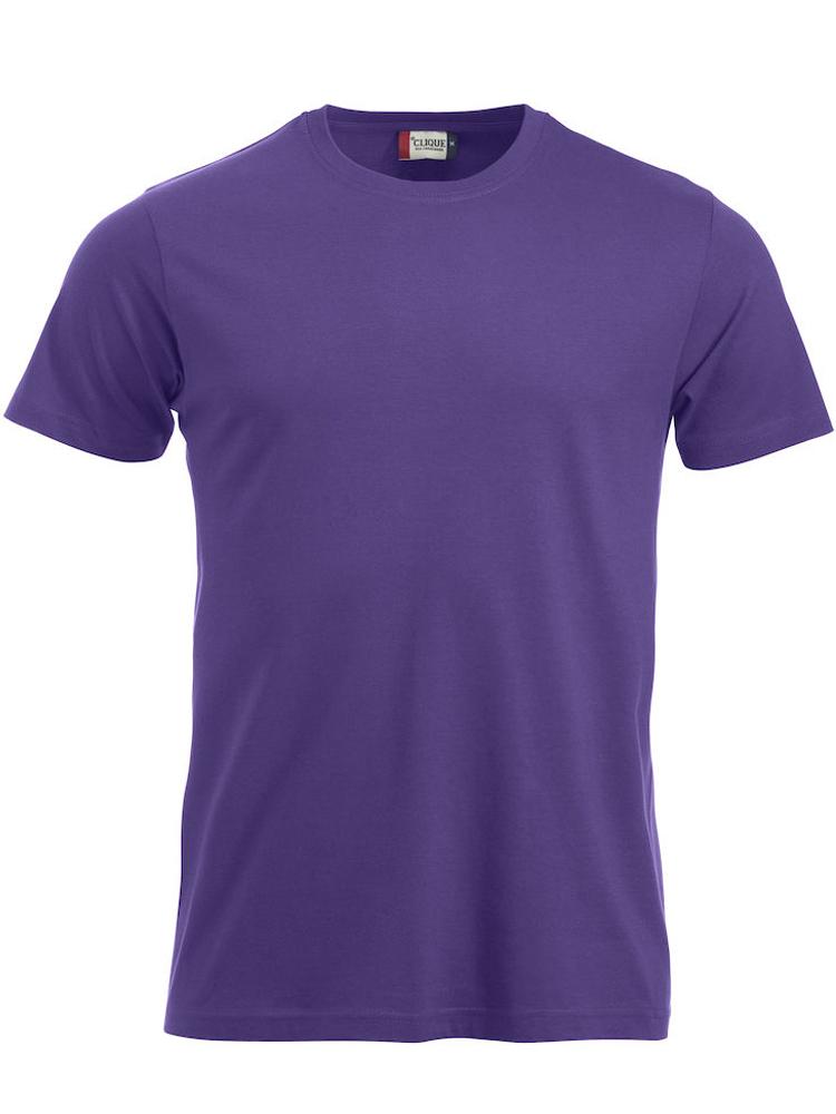 T-skjorte Clique New Classic-T, Sterk lilla
