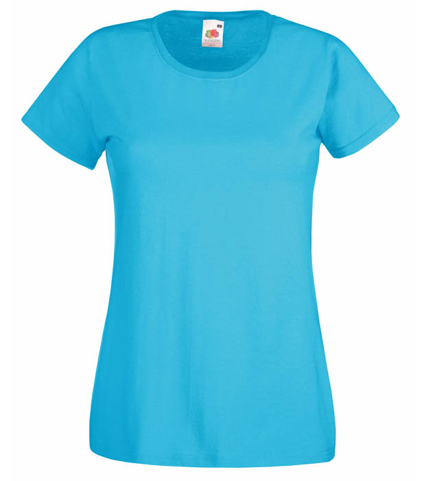 Fruit of the Loom Valueweight T Lady, Azure Blue