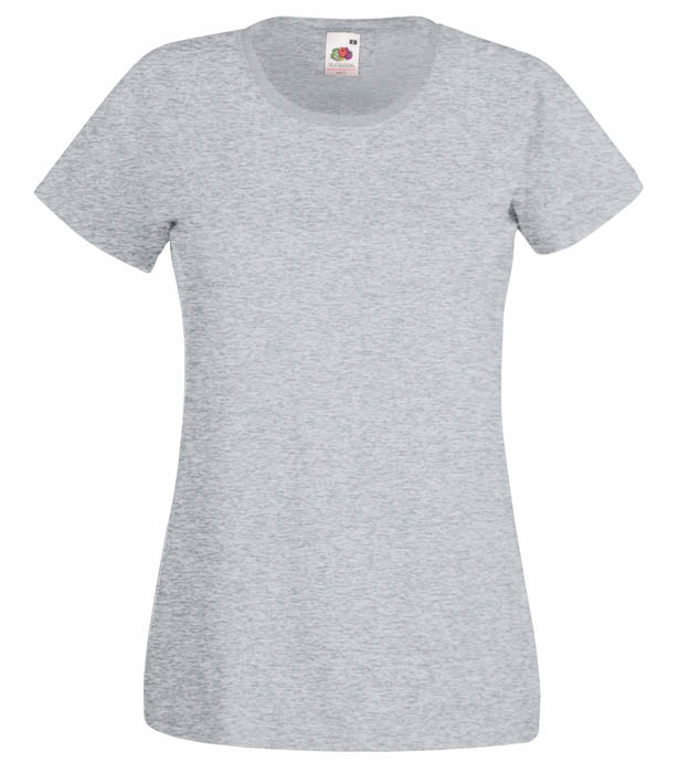 Fruit of the Loom Valueweight T Lady, Heather Grey