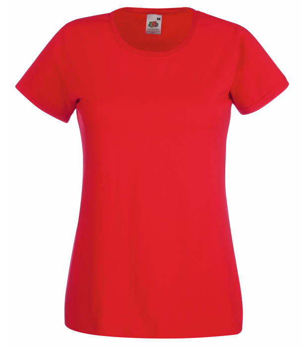 Fruit of the Loom Valueweight T Lady, Red