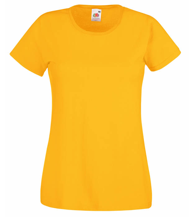 Fruit of the Loom Valueweight T Lady, Sunflower