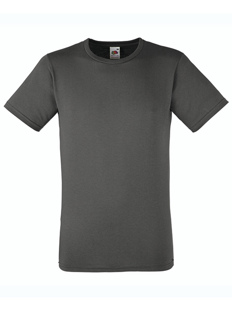 Fruit T-Shirt Fitted Valueweight T, Light Graphite