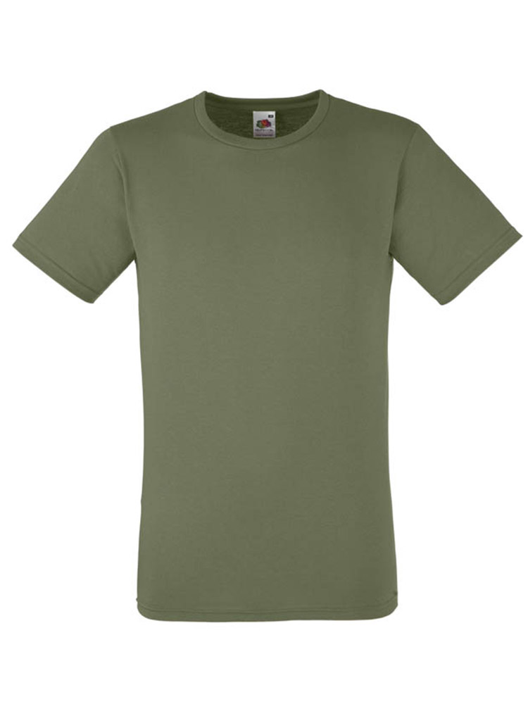 Fruit T-Shirt Fitted Valueweight T, Olive Green