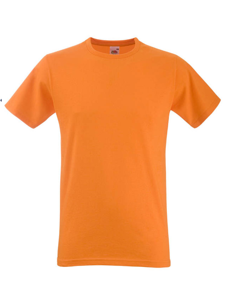 Fruit T-Shirt Fitted Valueweight T, Orange