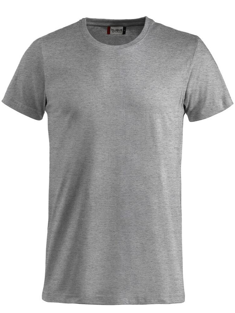 T-skjorte Clique Basic-T, Gråmelert