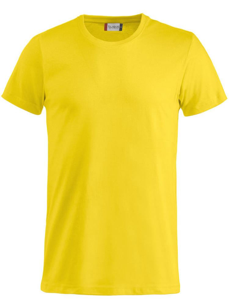 T-skjorte Clique Basic-T, Gul
