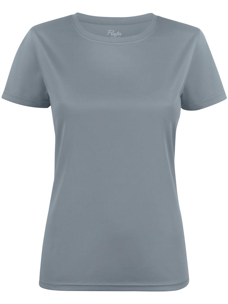 T-skjorte Printer Run Lady, Grå