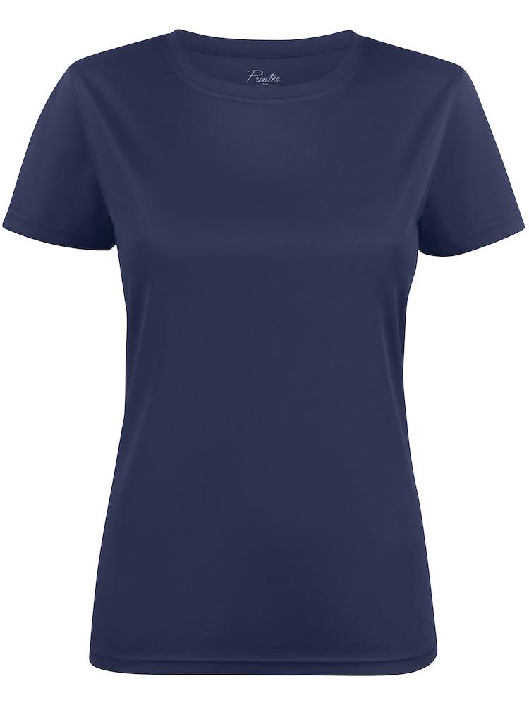T-skjorte Printer Run Lady, Marine