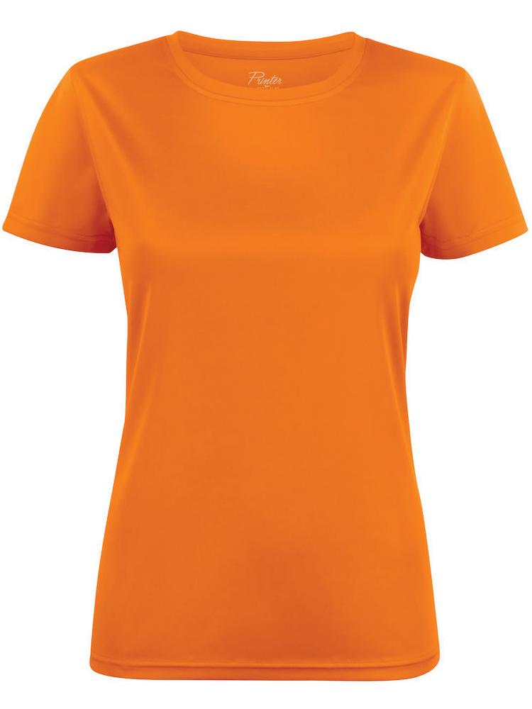 T-skjorte Printer Run Lady, Oransje