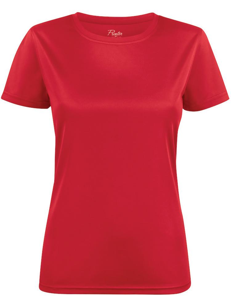 T-skjorte Printer Run Lady, Rød