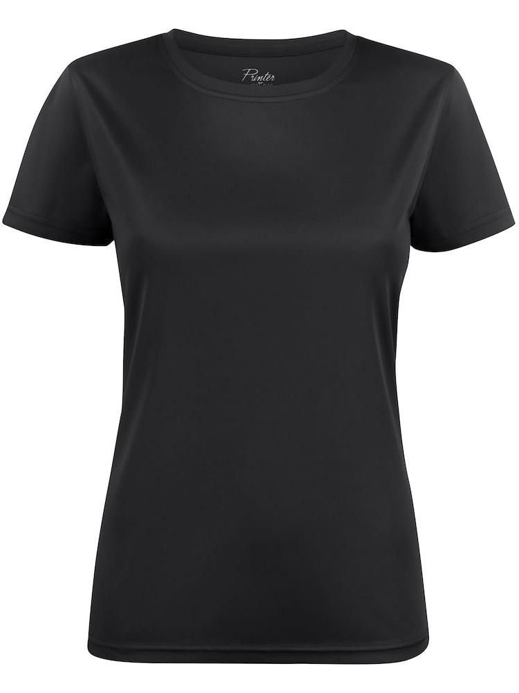 T-skjorte Printer Run Lady, Svart