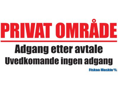 Skilt Privat Område_Avseth