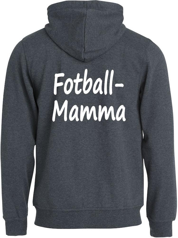Fotball-mamma hettejakke, Antrasit